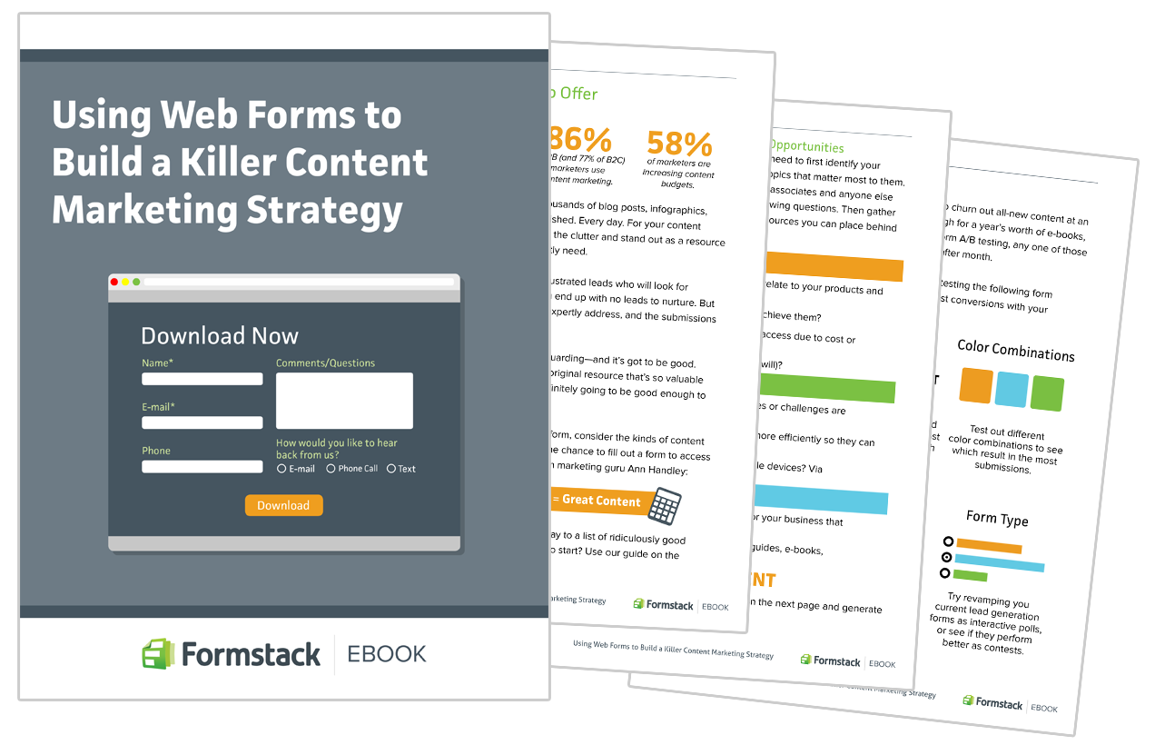 Using Web Forms to Build a Killer Content Marketing Strategy graphic