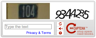 Form Captcha example