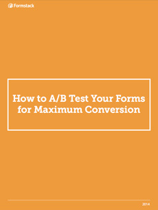 A/B test forms