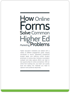 forms help solve marketing problems