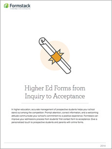 higher ed forms from inquiry to acceptance