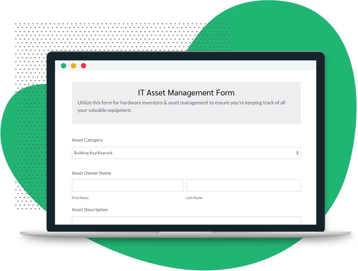It Asset Form Template Formstack