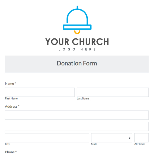Church  Ministry Forms  Form Templates  Formstack
