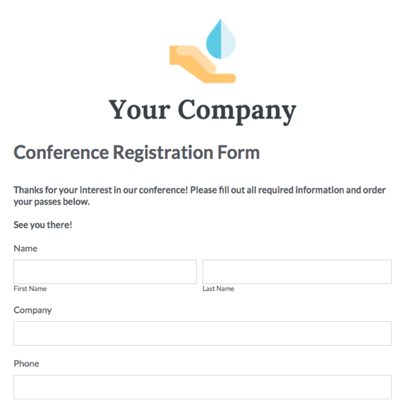 Event forms fundraising form templates formstack pronofoot35fo Image collections