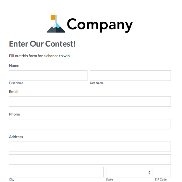 Formstack  Customer Form Sample