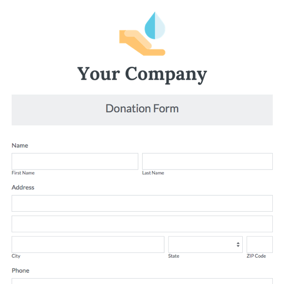 Donation Form Free Donation Sheet Template Pdf Download Donation