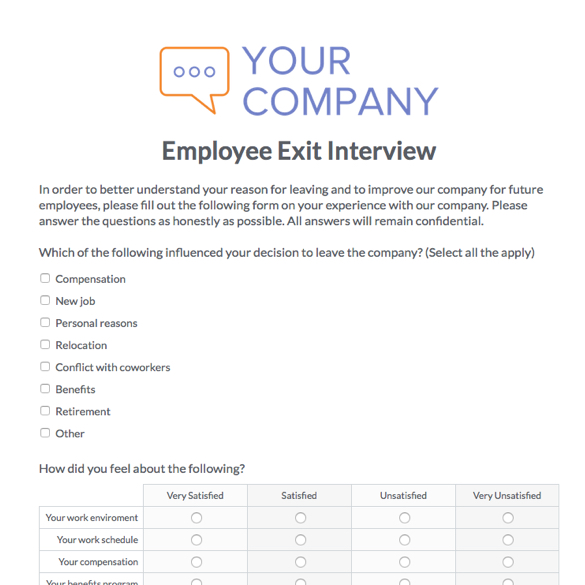 Human Resources Management Forms  Formstack