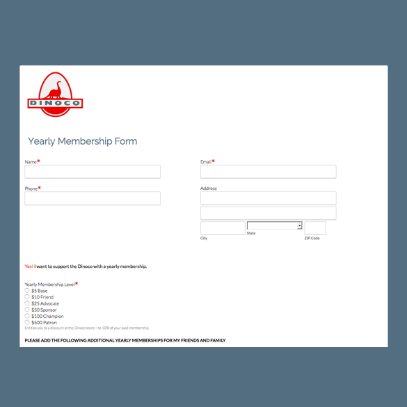 Formstack  Membership Forms Templates