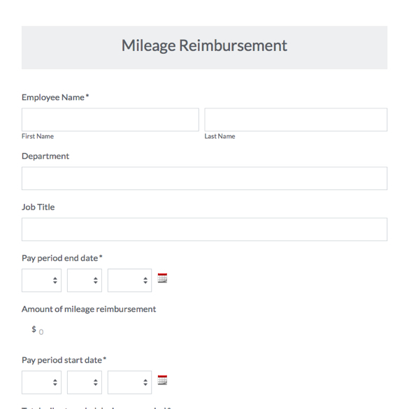 Travel Forms & Templates | Expense, Mileage & Reimbursements
