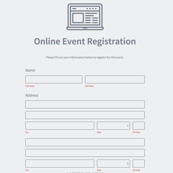 Event Registration Form Builder | Powered By Formstack