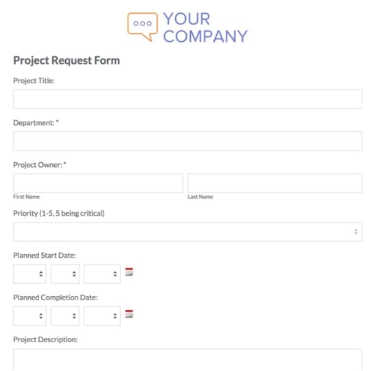 Project Request Form Template | Online Business Forms Templates For Every Department Formstack
