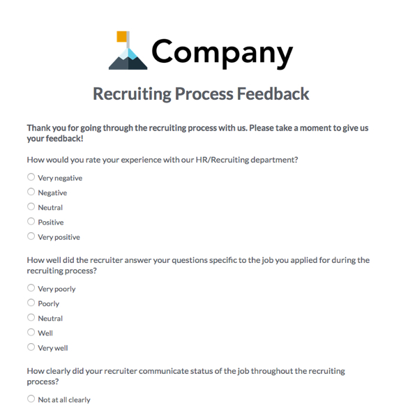 recruitment questionnaire Questionnaire name – company's name – designation – date- note –  please tick the appropriate option 1 what source you adopt to.