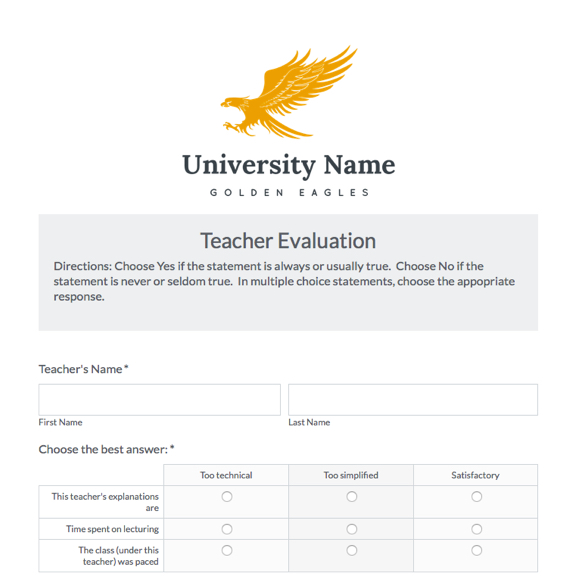 Education Forms  Templates  Try Them Out Now  Formstack